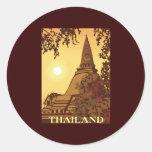 Tailandia Pegatinas Redondas