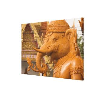 Tailandia, Ubon Ratchathani, festival de la vela, Impresión En Lienzo Estirada