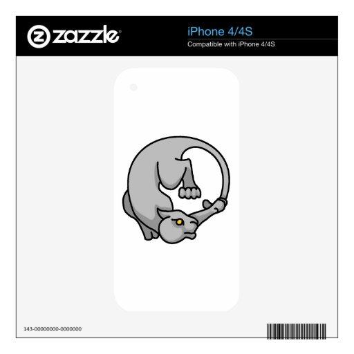Tailchaser gris skins para eliPhone 4