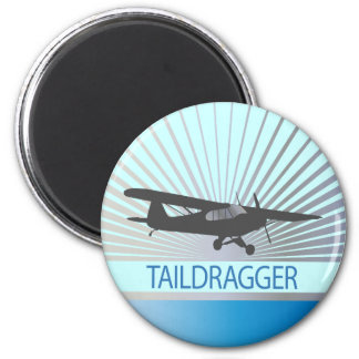 Taildragger Airplane 2 Inch Round Magnet
