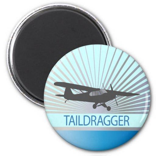 Taildragger Airplane Fridge Magnets