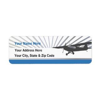 Taildragger Airplane Return Address Labels