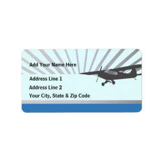 Taildragger Airplane Address Label