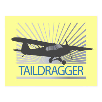 Taildragger Airplane Postcard