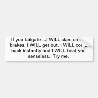 Tailgate bumper sticker