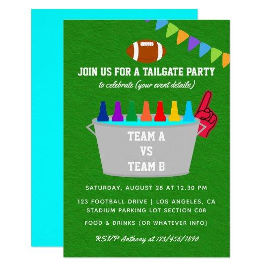 Tailgate Football Match Party Invite Zazzle Com