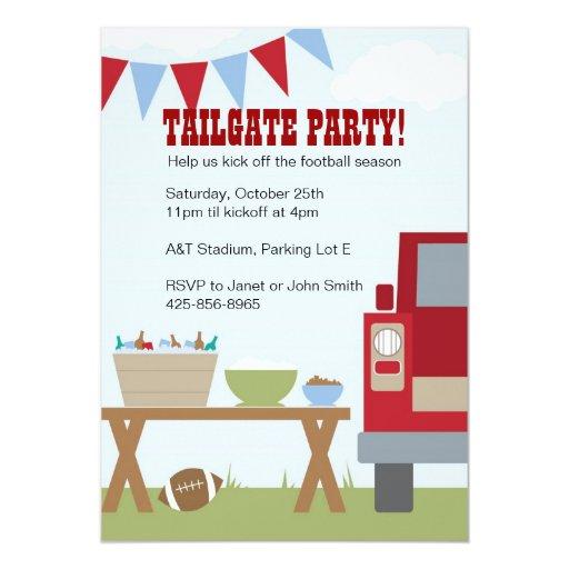 Tailgate Football Party Invitation 5 Quot X 7 Quot Invitation Card