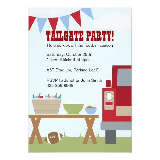 Tailgate Football Party Invitation – Football Party Invites