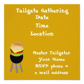 """Tailgate Invitation 5.25"""" Square Invitation Card"""