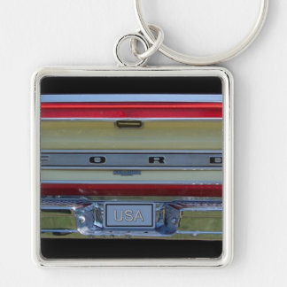 tailgate of a classic pickup truck keychain