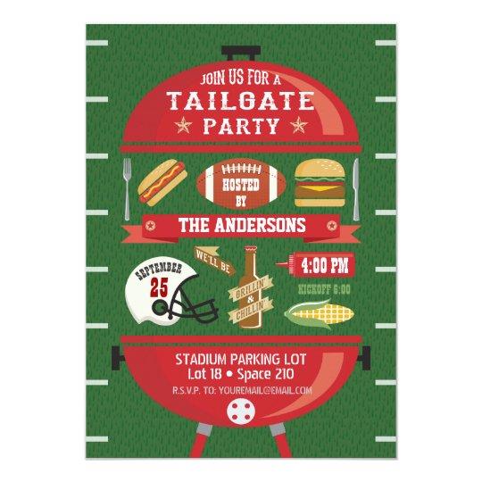 Tailgate Party BBQ Football Invitation Zazzlecom
