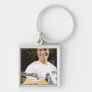 tailgate party before a football game 2 keychain