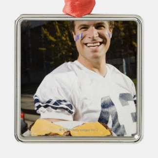 tailgate party before a football game 2 metal ornament