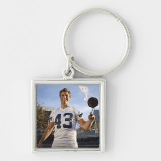 tailgate party before a football game keychain