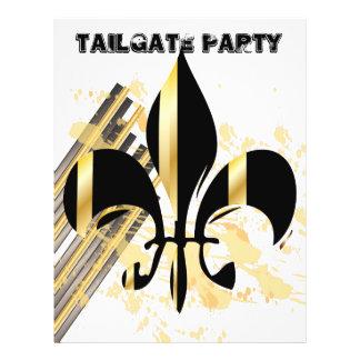 Tailgate Party Flyer/Fleur de Lis/black + gold
