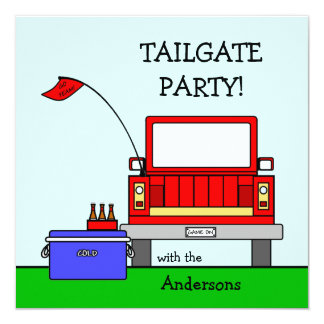 Tailgate Party Truck Invitation
