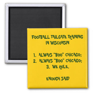 TAILGATE TRAINING IN WISCONSIN 2 INCH SQUARE MAGNET