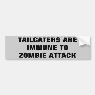 Tailgaters Are Immune To Zombie Attack Car Bumper Sticker