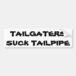 Tailgaters chupa el tubo de escape pegatina para auto