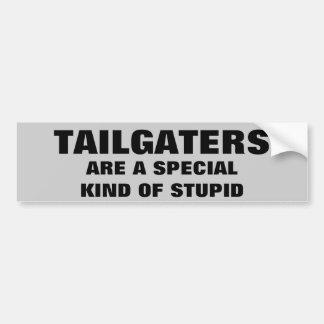 Tailgaters: Una clase especial de estúpido Pegatina Para Auto
