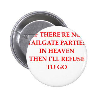 tailgating 2 inch round button