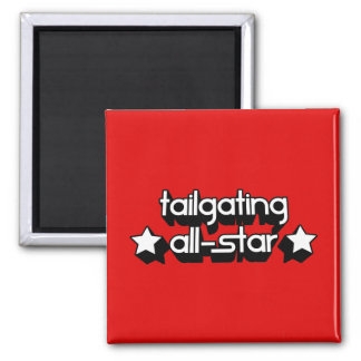 Tailgating All-Star in Any Team Colors 2 Inch Square Magnet