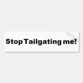 Tailgating Bumper Sticker Car Bumper Sticker