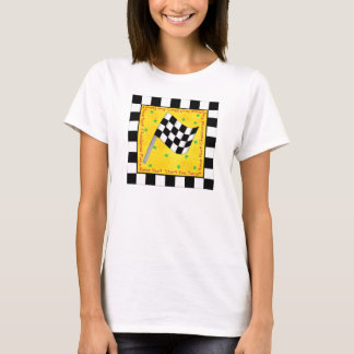 Tailgating Race Fan Checkered Flag Custom T-Shirt