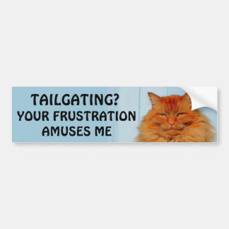 Tailgating? Your Frustration Amuses Me Pumpkin Bumper Sticker