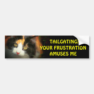 Tailgating? Your Frustration Amuses My Calico Bumper Sticker
