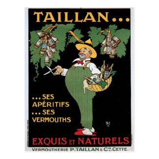Taillan Aperitifs Vintage Drink Ad Art Postcard