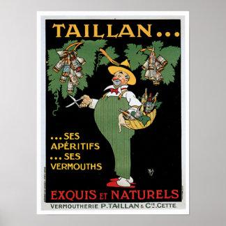 Taillan Aperitifs Vintage Drink Ad Art Poster