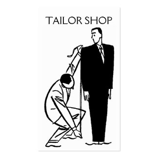 Tailor Alterations Tailoring Seamstress Business Cards