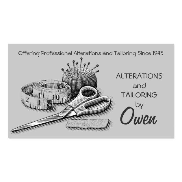 Computer Logo Design Template: Tailor, Alterations, Tailoring, Seamstress, Tailor