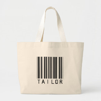 Tailor Bar Code Large Tote Bag