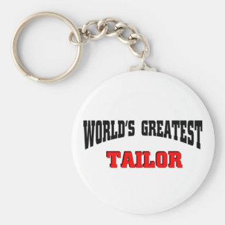 Tailor Basic Round Button Keychain