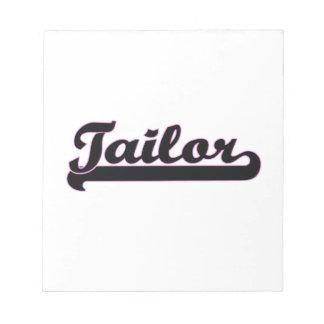 Tailor Classic Job Design Memo Note Pad
