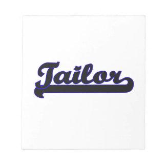 Tailor Classic Job Design Memo Pad