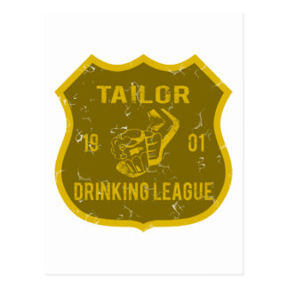 Tailor Drinking League Postcard