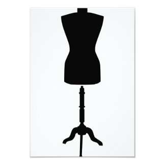 Tailor in-store mannequin 3.5x5 paper invitation card