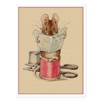 Tailor Mouse by Beatrix Potter Postcard