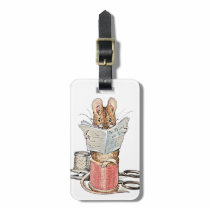 Tailor Mouse on Spool of Thread Luggage Tag