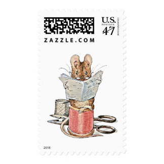 Tailor Mouse on Spool of Thread Postage