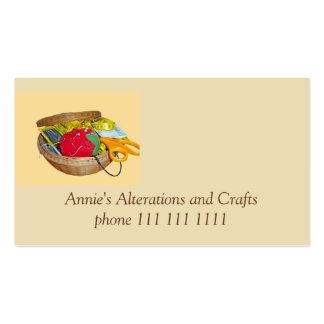 Tailor, Needle Work and Crafters Double-Sided Standard Business Cards (Pack Of 100)