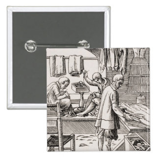 Tailor, reproduction of a woodcut button