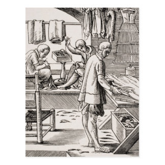 Tailor, reproduction of a woodcut postcard
