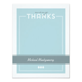 Tailored Graduation Thank You Note Card