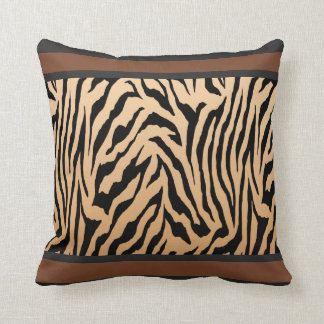 Tailored Tiger Stripe Throw Pillow