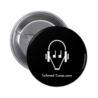 Tailored Tunes badge (dark) Pinback Button