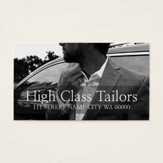 Tailors, Alterations, Dry Cleaners Business Card
